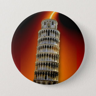 Tower of Pisa Pinback Button