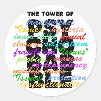 Tower of Psychobabble Round Sticker