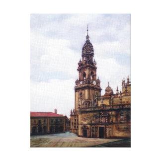 Tower of the Clock (Santiago de Compostela. To Canvas Print