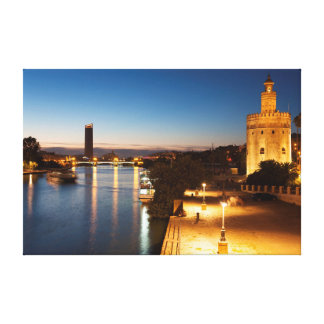 Tower of the gold and Guadalquivir to river, Sevil Canvas Print