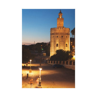 Tower of the gold, Seville Canvas Print
