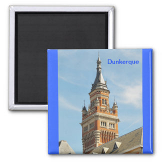 tower of Town Hall of Dunkerque Magnet