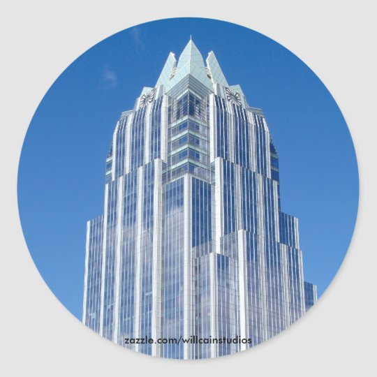 Tower on Sunny Day Classic Round Sticker