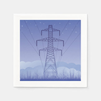 Tower Power Line Paper Napkins
