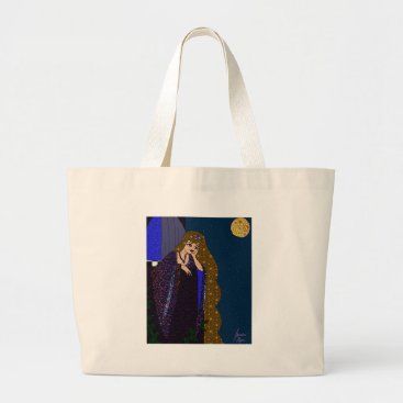 jasmineflynn Tower Princess Large Tote Bag