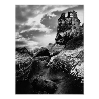 Tower Ruins of Dunure Castle Ayrshire Scotland Poster