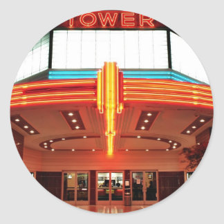 Tower Theater, Sacramento, California Classic Round Sticker