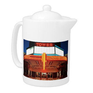 Tower Theater, Sacramento, California Teapot