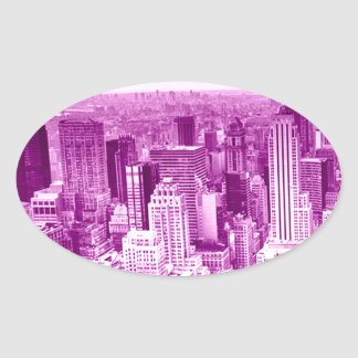 Tower Top View Oval Sticker