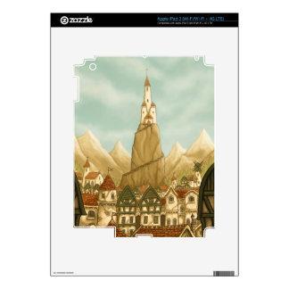 towering castle fantasy iPad skin