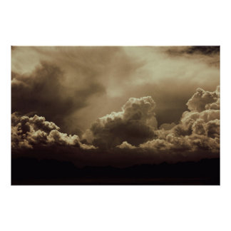 Towering clouds posters