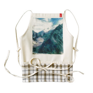 Towering Himalayan mountains Zazzle HEART Apron