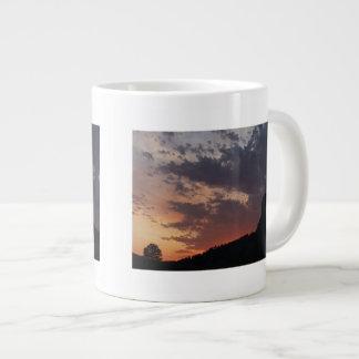 Towering Sunset Giant Coffee Mug