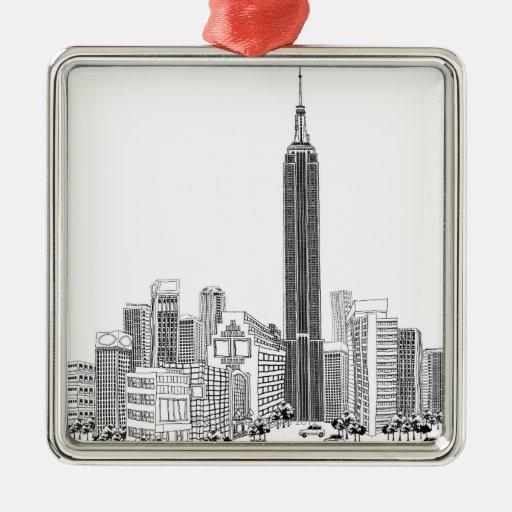 Towering Tower Metal Ornament