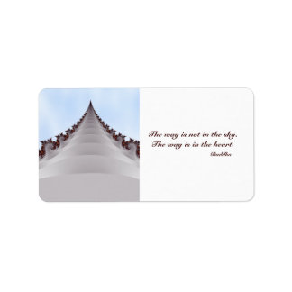 Towering Tree Motivational Buddha Quote Label