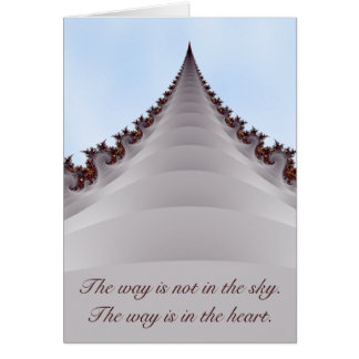 Towering Tree Steps Into Sky Motivational Card
