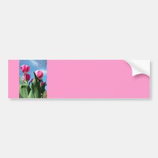 Towering Tulips Bumper Sticker