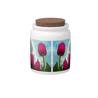 Towering Tulips Candy Jar