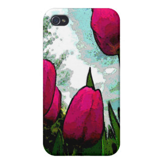 Towering Tulips Case for iPhone 4 4s