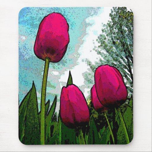 Towering Tulips Mousepad