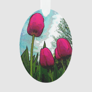 """Towering Tulips"" Ornament"