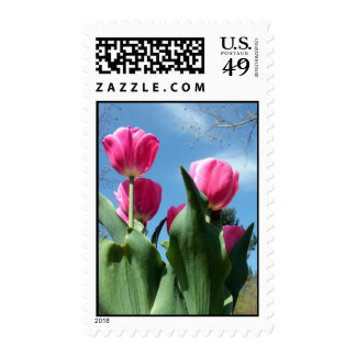 Towering Tulips Stamp
