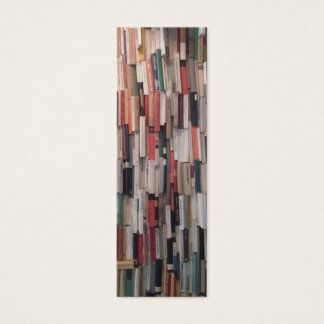 Towering Wall of Books Bookmark Mini Business Card