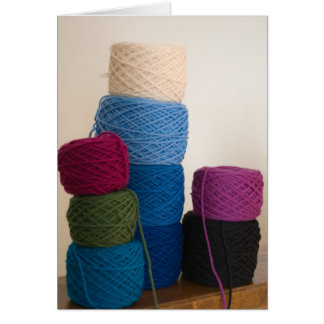 Towering Yarn Cakes Card