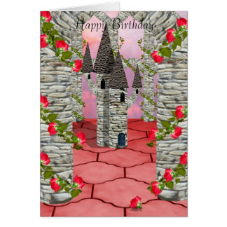 Towers and roses card