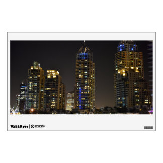 Towers in Dubai Marina at night Wall Decal