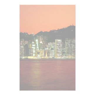 Towers of Central Hong Kong Island at dusk seen fr Custom Stationery