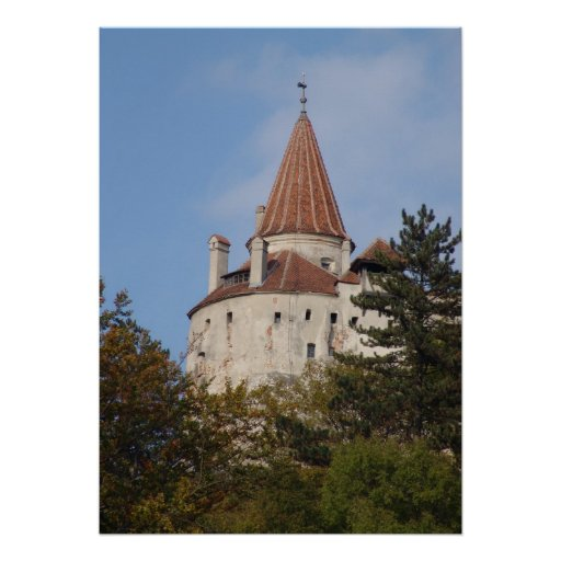 Towers of Dracula's castle Print