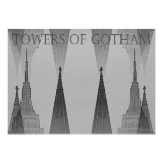 """Towers of Gotham"" NYC 2006 Poster"