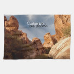 Towers of Red Rock; Customizable Towel
