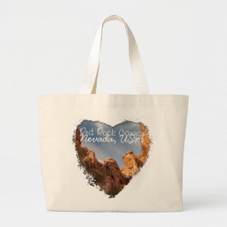 Towers of Red Rock; Nevada Souvenir Large Tote Bag