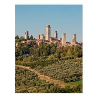 Towers of San Gimignano, Tuscany, Italy Postcard