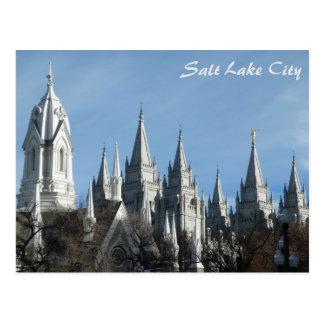 Towers of the Temple - Salt Lake City Postcard