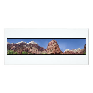 Towers of the Virgin Panoramic 4x9.25 Paper Invitation Card