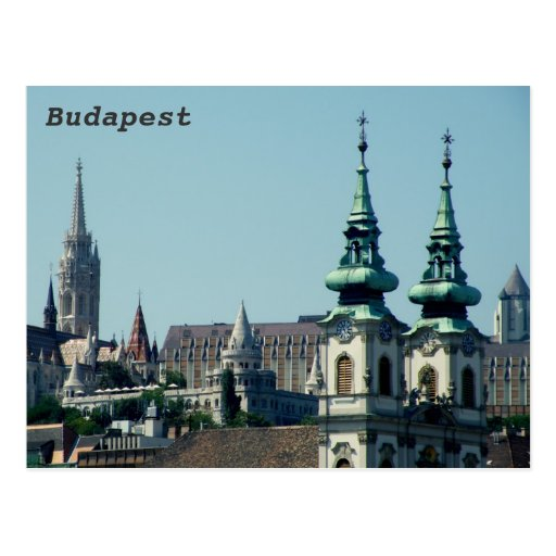 Towers over Budapest Postcard