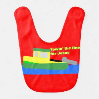Towin' the Line for Jesus (boat) Bib