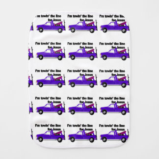 Towin' the Line for Jesus (tow truck pattern) Burp Cloths