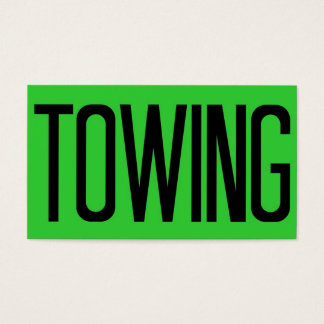 Towing Bold Florescent Green Business Card