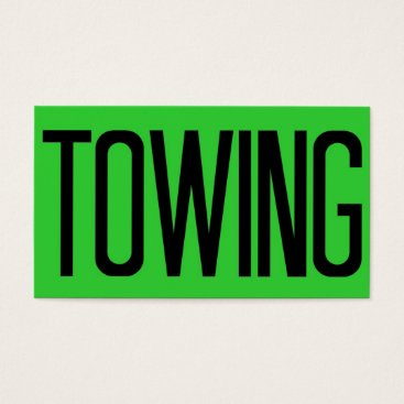 Professional Business Towing Bold Florescent Green Business Card