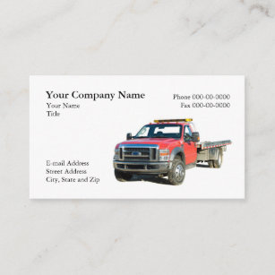 Towing business cards zazzle towing business card colourmoves