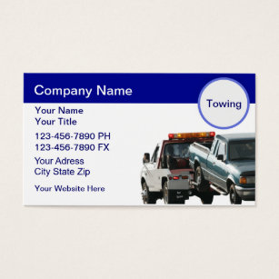 Tow truck business cards templates zazzle towing business cards colourmoves Gallery