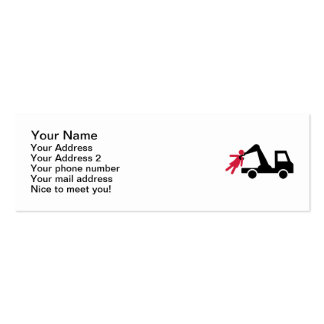 Towing car girl woman Double-Sided mini business cards (Pack of 20)