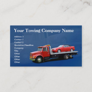 Towing business cards templates zazzle towing company business card colourmoves