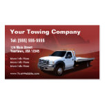 Towing Company white truck design Business Card Templates