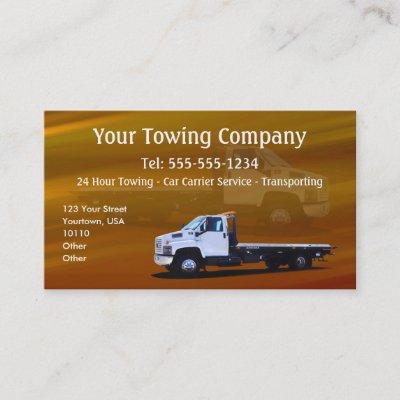Towing business cards zazzle colourmoves