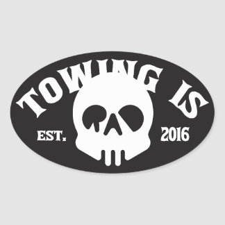 Towing Is Rad black sticker